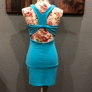 bebe Dresses - Bebe turquoise dress